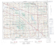 062M Yorkton Canadian topographic map, 1:250,000 scale
