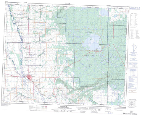 062N12 Kamsack Canadian topographic map, 1:50,000 scale