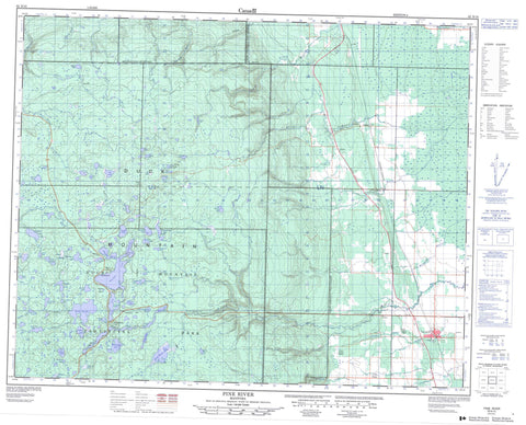 062N15 Pine River Canadian topographic map, 1:50,000 scale
