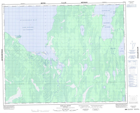 062P13 Poplar Point Canadian topographic map, 1:50,000 scale