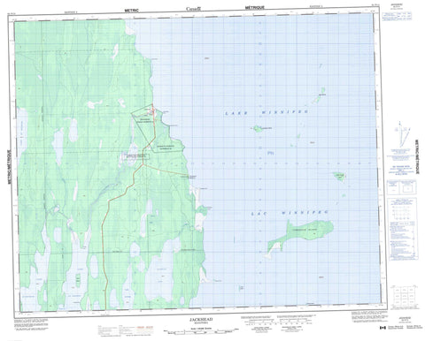 062P14 Jackhead Canadian topographic map, 1:50,000 scale