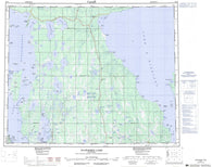 063B Waterhen Lake Canadian topographic map, 1:250,000 scale