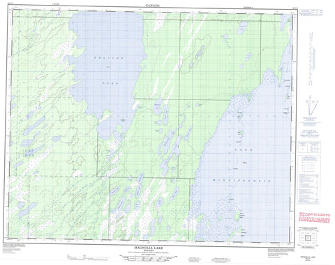 063C08 Magnolia Lake Canadian topographic map, 1:50,000 scale
