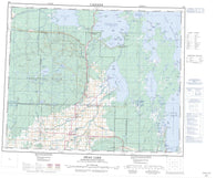 063C Swan Lake Canadian topographic map, 1:250,000 scale