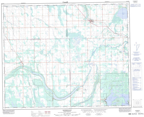 063D12 Bjorkdale Canadian topographic map, 1:50,000 scale