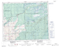 063E Pasquia Hills Canadian topographic map, 1:250,000 scale