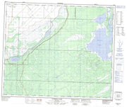 063F11 Pasquia Lake Canadian topographic map, 1:50,000 scale from Manitoba Map Store