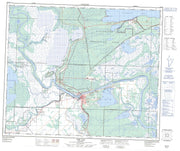 063F14 The Pas Canadian topographic map, 1:50,000 scale from Manitoba Map Store