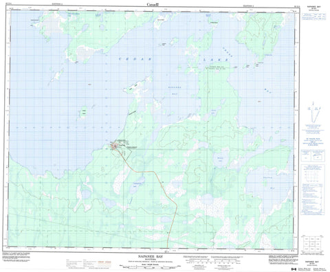 063G04 Napanee Bay Canadian topographic map, 1:50,000 scale