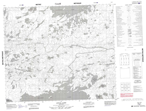 063I07 Joyal Lake Canadian topographic map, 1:50,000 scale