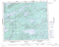 063I Cross Lake Canadian topographic map, 1:250,000 scale
