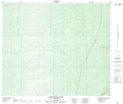 063J06 Hargrave River Canadian topographic map, 1:50,000 scale