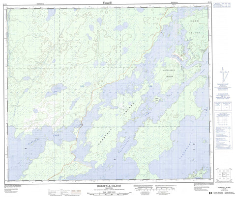 063J08 Horsfall Island Canadian topographic map, 1:50,000 scale
