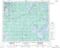 063J Weskusko Lake Canadian topographic map, 1:250,000 scale