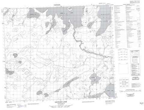 063L08 Leonard Lake Canadian topographic map, 1:50,000 scale