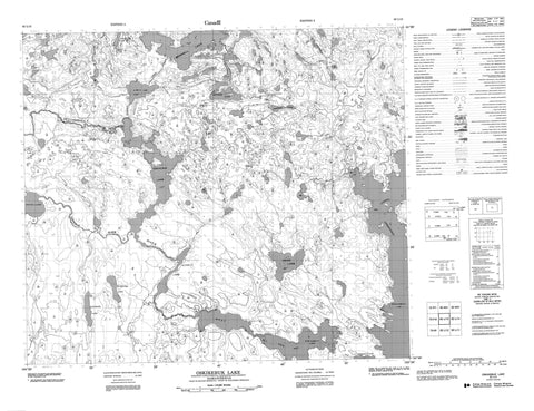 063L13 Oskikebuk Lake Canadian topographic map, 1:50,000 scale