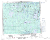 063L Amisk Lake Canadian topographic map, 1:250,000 scale