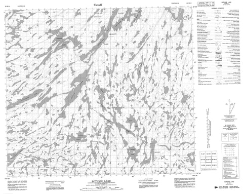 063M13 Rothnie  Lake Canadian topographic map, 1:50,000 scale