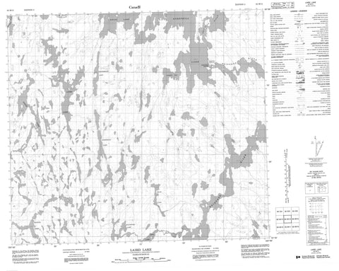 063M14 Laird Lake Canadian topographic map, 1:50,000 scale