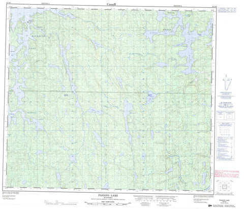 063N09 Pahayo Lake Canadian topographic map, 1:50,000 scale