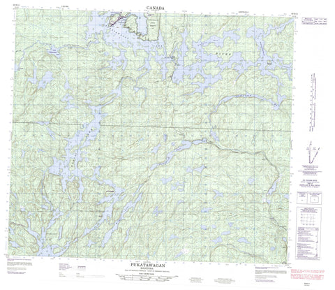 063N11 Pukatawagan Canadian topographic map, 1:50,000 scale