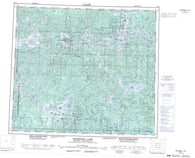 063N Kississing Lake Canadian topographic map, 1:250,000 scale