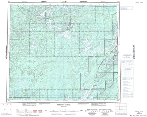063O Nelson House Canadian topographic map, 1:250,000 scale