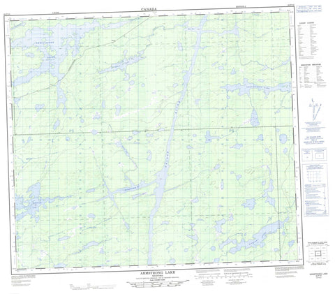 063P10 Armstrong Lake Canadian topographic map, 1:50,000 scale