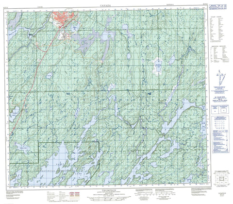063P12 Thompson Canadian topographic map, 1:50,000 scale
