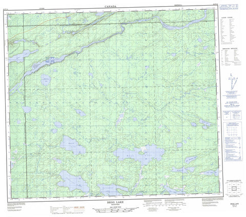 063P14 Begg Lake Canadian topographic map, 1:50,000 scale
