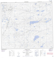 064A04 Strong Lake Canadian topographic map, 1:50,000 scale from Manitoba Map Store