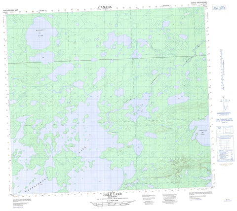 064A09 Hale Lake Canadian topographic map, 1:50,000 scale