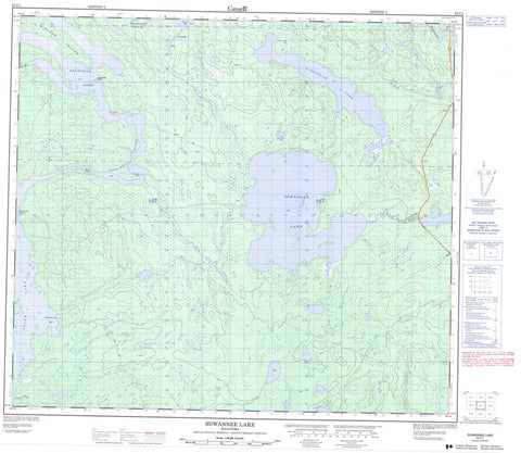 064C01 Suwannee Lake Canadian topographic map, 1:50,000 scale