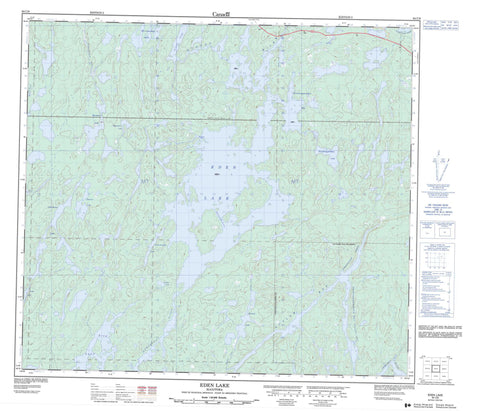 064C09 Eden Lake Canadian topographic map, 1:50,000 scale