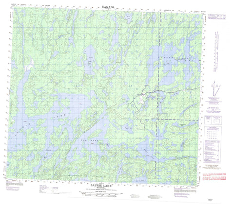 064C12 Laurie Lake Canadian topographic map, 1:50,000 scale
