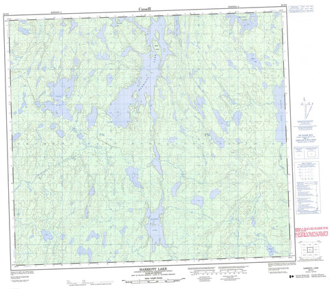 064D02 Harriott Lake Canadian topographic map, 1:50,000 scale