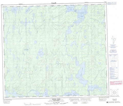 064D03 Royal Lake Canadian topographic map, 1:50,000 scale