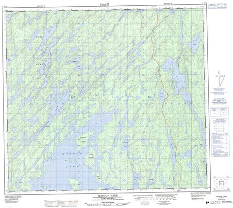 064D12 Macoun Lake Canadian topographic map, 1:50,000 scale