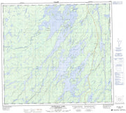 064D13 Wathaman Lake Canadian topographic map, 1:50,000 scale from Saskatchewan Map Store