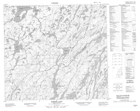 064E04 Robson Lake Canadian topographic map, 1:50,000 scale
