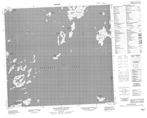 064E09 Ballentin Island Canadian topographic map, 1:50,000 scale