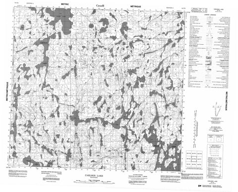 064F06 Carlson Lake Canadian topographic map, 1:50,000 scale