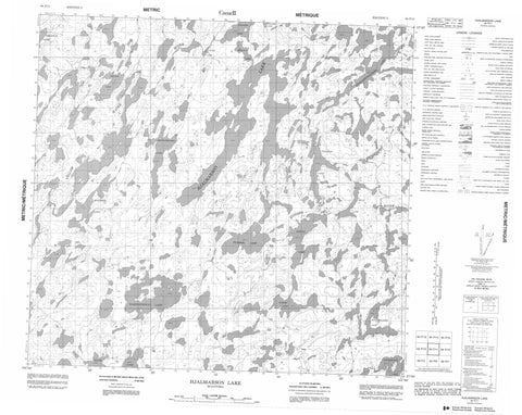 064F11 Hjalmarson Lake Canadian topographic map, 1:50,000 scale