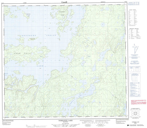 064G01 Torrance Lake Canadian topographic map, 1:50,000 scale