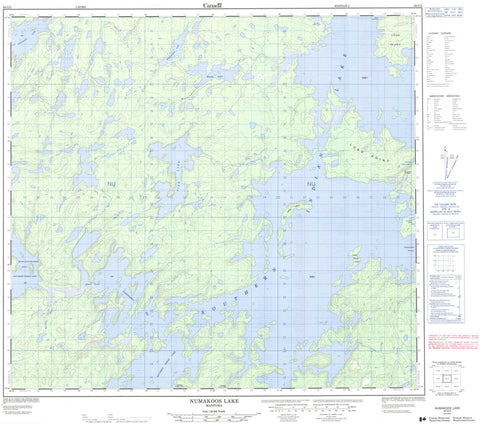 064G02 Numakoos Lake Canadian topographic map, 1:50,000 scale