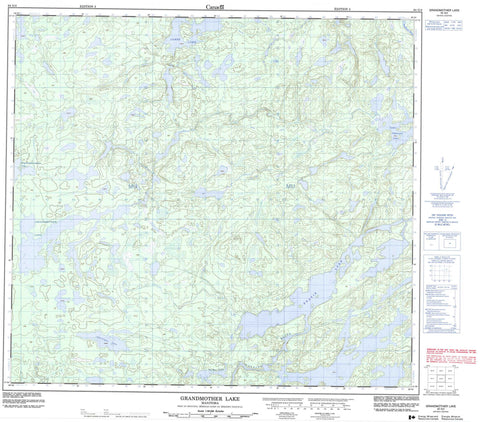 064G04 Grandmother Lake Canadian topographic map, 1:50,000 scale