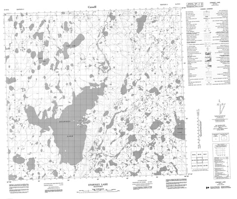 064H15 Etawney Lake Canadian topographic map, 1:50,000 scale
