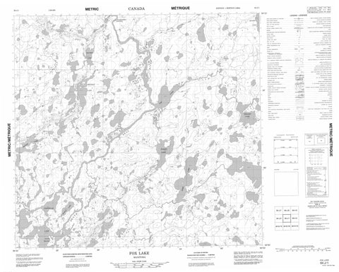 064J01 Fox Lake Canadian topographic map, 1:50,000 scale