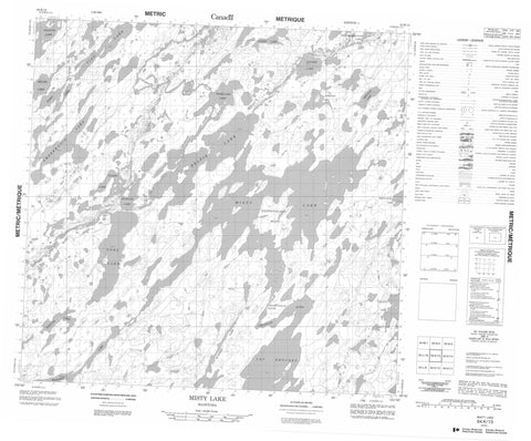 064K13 Misty Lake Canadian topographic map, 1:50,000 scale