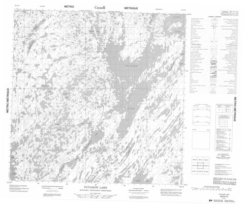 064N15 Putahow Lake Canadian topographic map, 1:50,000 scale